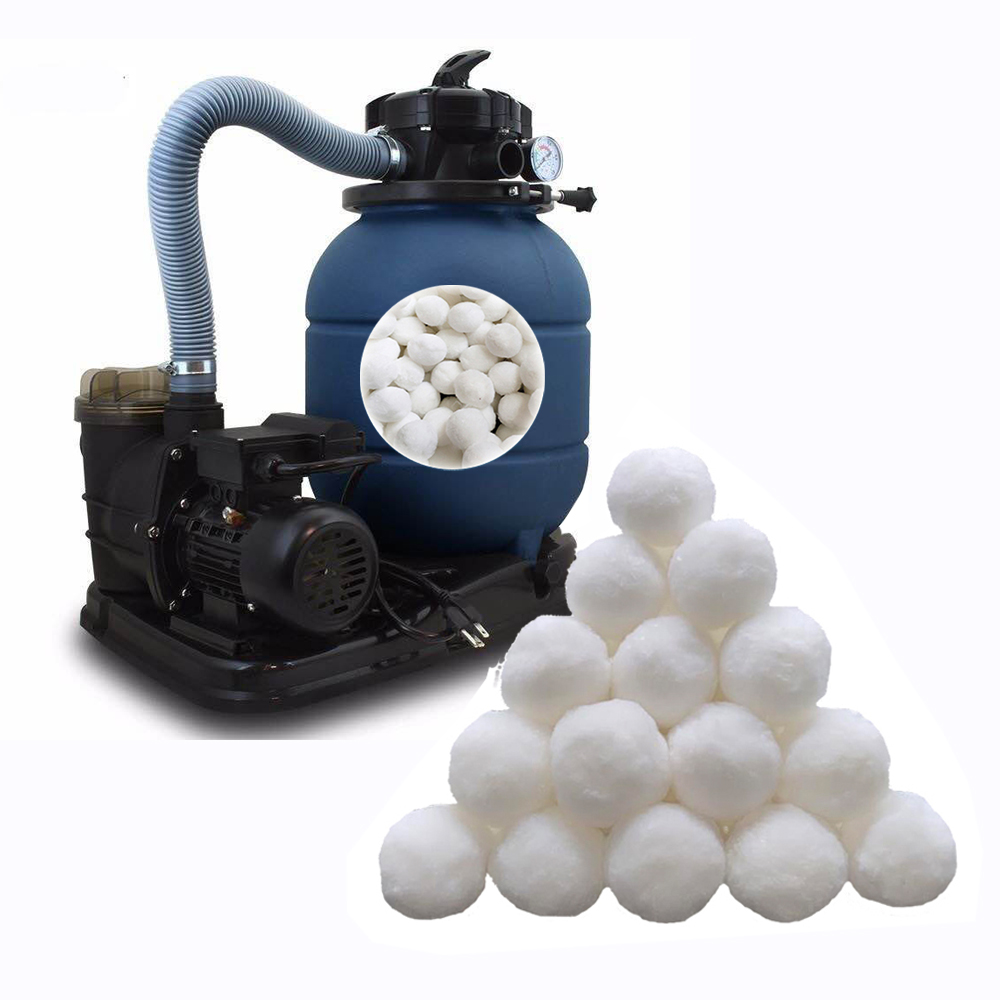 """13"""" sand filter and pump combo with fiber filter ball"""