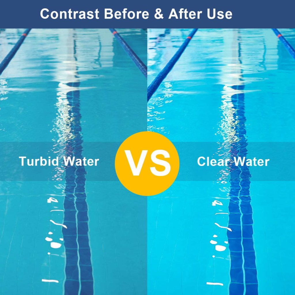turbid water and clear water in pool