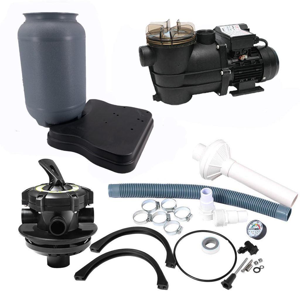 all the parts included in the 250mm filter system