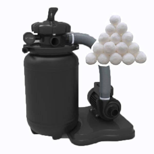250mm sand filter system with fiber filter ball