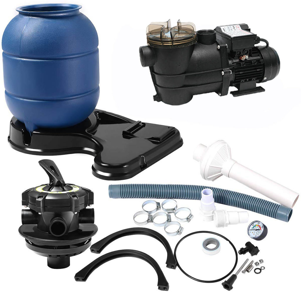 all the parts included in the 300mm filter system