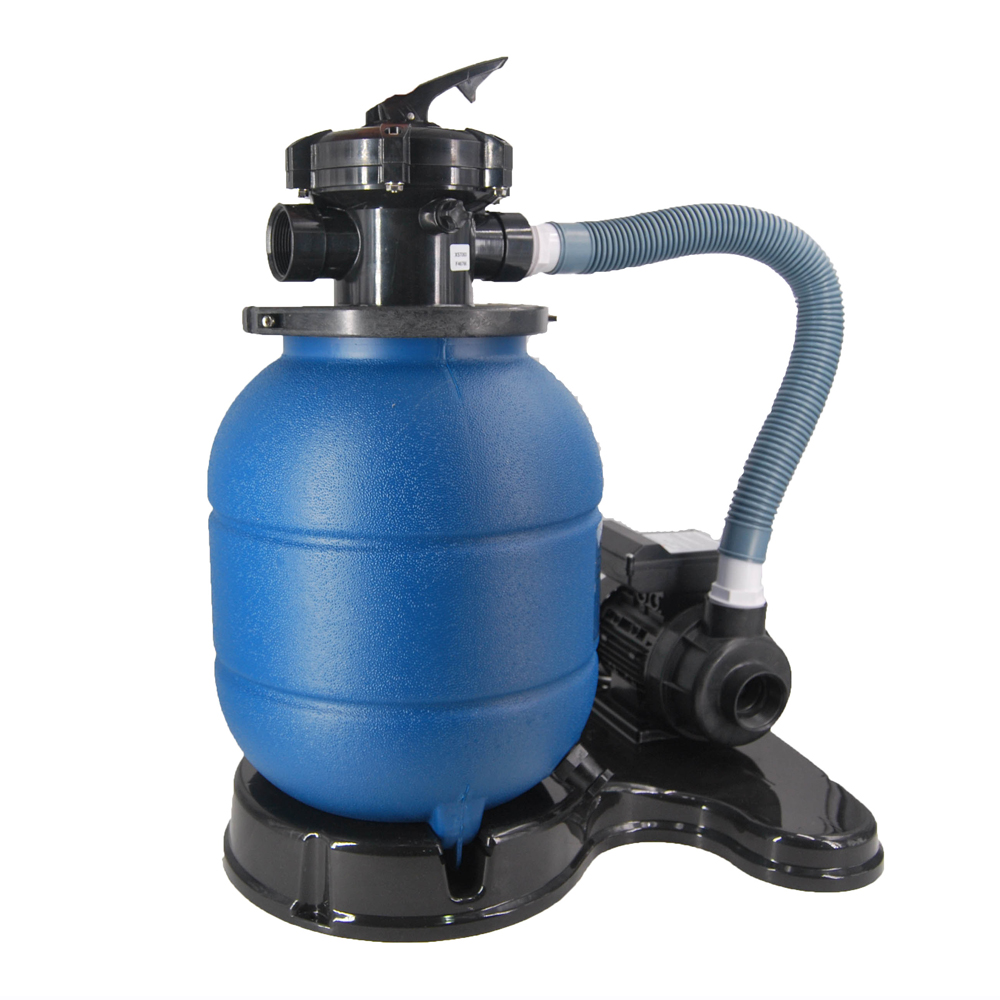 blue sand filter with pump system