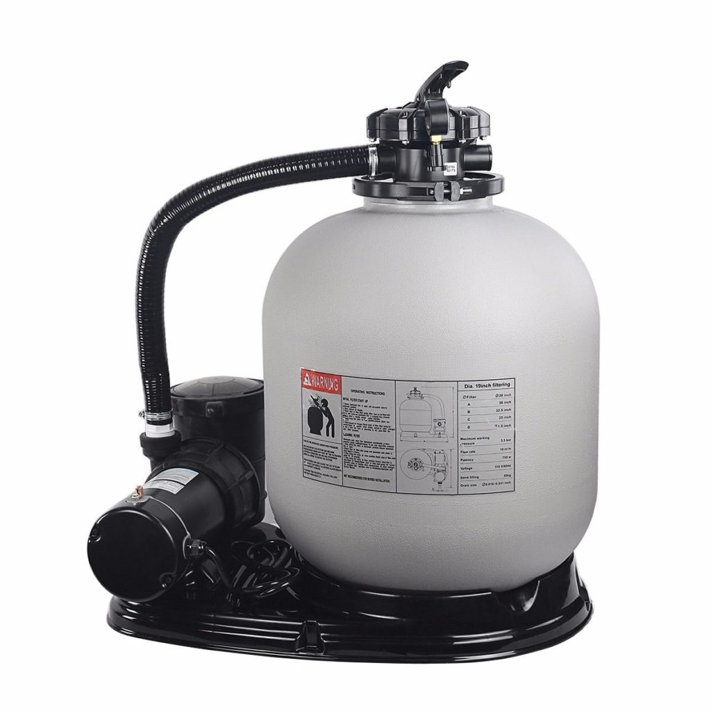"""19"""" sand filter and pump system"""
