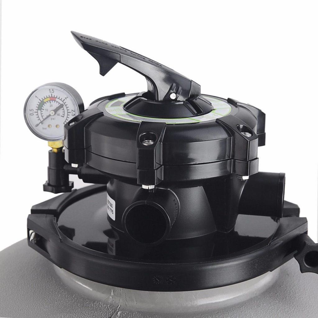 5-way valve on the sand filter tank