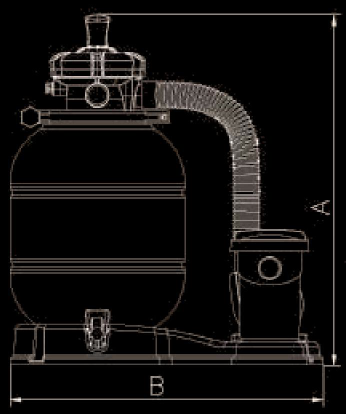 sand filter and pump dimension