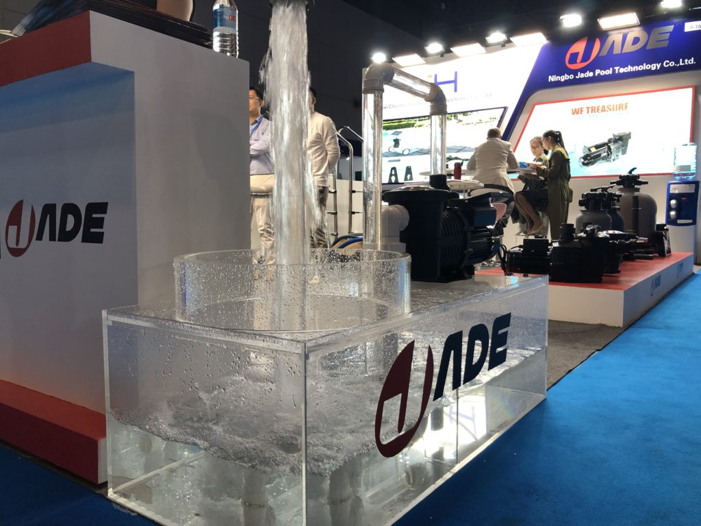 Jade Variable Speed Pump in the Barcelona Pool Expo in Spain