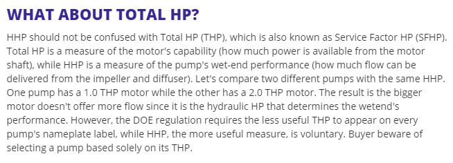 HP, THP and HHP in DoE Regulation